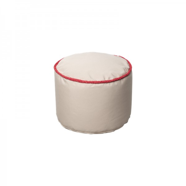 """Cute round pouffe with crocheted applications - D50*36 - 3mm -""""Marshmallow"""""""