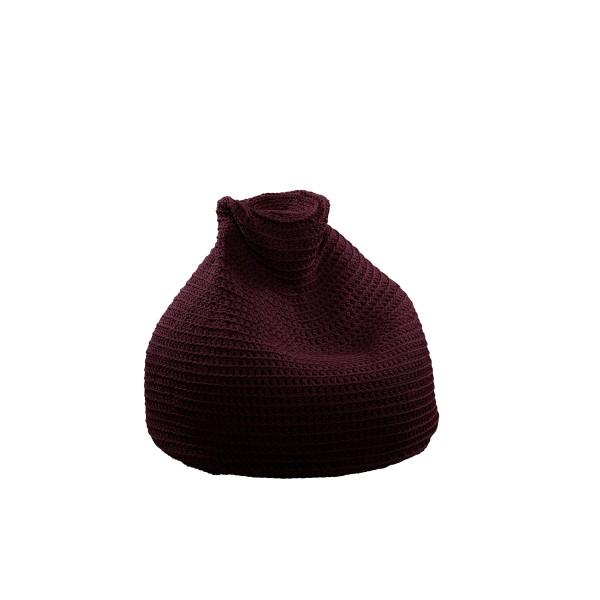 "Beanbag crocheted - Small - Medium - Large - 6mm ""Pear"" - Blackberry"