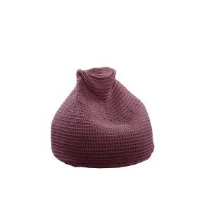 "Beanbag crocheted - Small - Medium - Large - 6mm ""Pear"" - Raspberry"