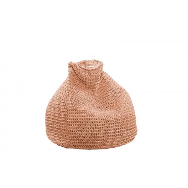"Beanbag crocheted - Small - Medium - Large - 6mm ""Pear"" - Salmon"