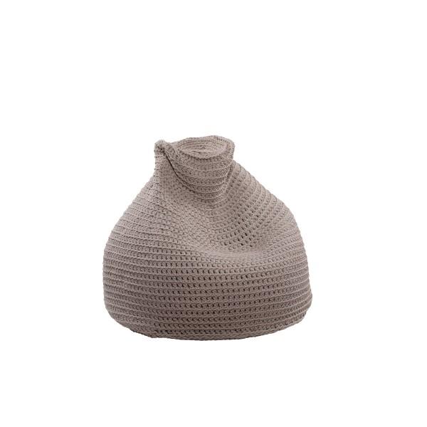 "Beanbag crocheted - Small - Medium - Large - 6mm ""Pear"" - Sand"