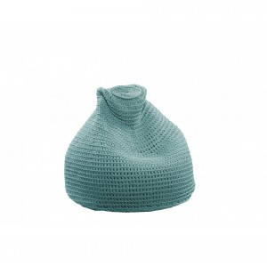 """Beanbag crocheted - Small - Medium - Large - 6mm """"Pear"""" - Turquoise"""