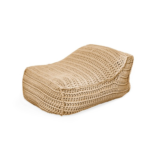 """Cozy Lounger crocheted 6mm - """"Syros Lounger"""" - Earth"""