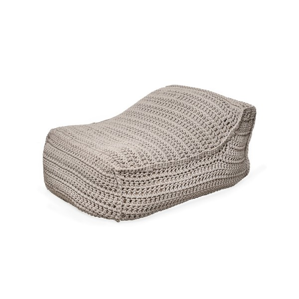 """Cozy Lounger crocheted 6mm - """"Syros Lounger"""" - Sand"""