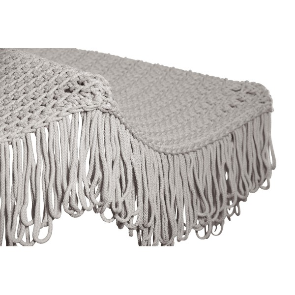 """Parasol round classic crocheted  with fabric  - D210 / D260 - 6mm """"Fringe"""" - Sand"""