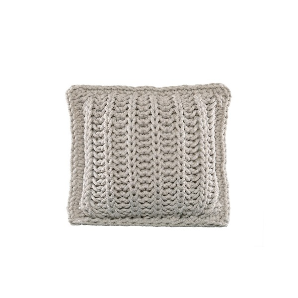 """Cushion knitted both sides - 45*45 - 6mm """"Chain"""" - Sand"""