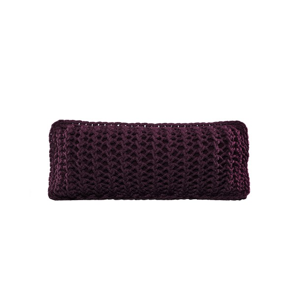 """Cushion knitted both sides - 65*28 - 6mm """"XX"""" - Blackberry"""