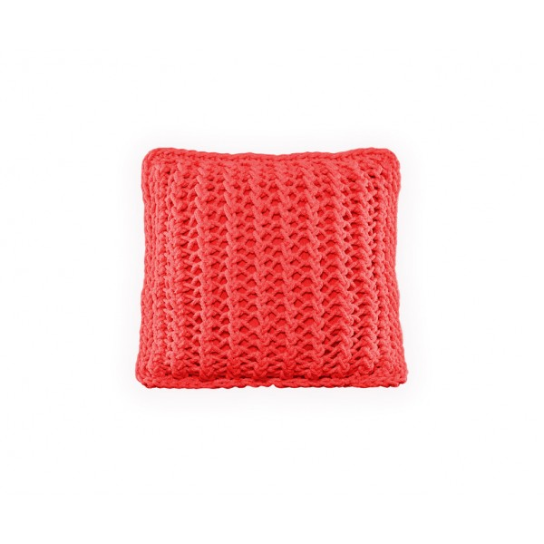 """Cushion knitted both sides 45*45 - 6mm """"XX"""" - Watermelon"""