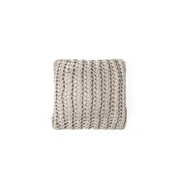 """Cushion knitted one side - 45*45 / 60*60 - 6mm """"XX"""" - Sand"""