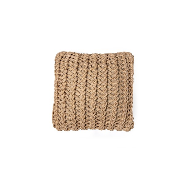 """Cushion knitted one side - 45*45 / 60*60 - 6mm """"XX"""" - Earth"""