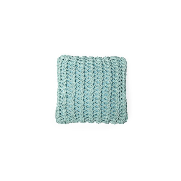 """Cushion knitted one side - 45*45 / 60*60 - 6mm """"XX"""" - Turquoise"""