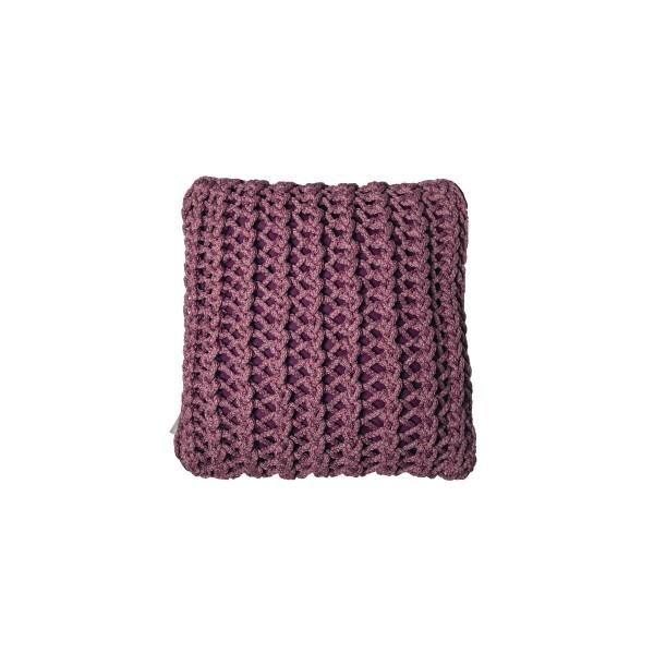 "Cushion knitted one side - 45*45 / 60*60 - 6mm ""XX"" - Raspberry"