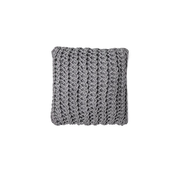 """Cushion knitted one side - 45*45 / 60*60 - 6mm """"XX"""" - Lava"""