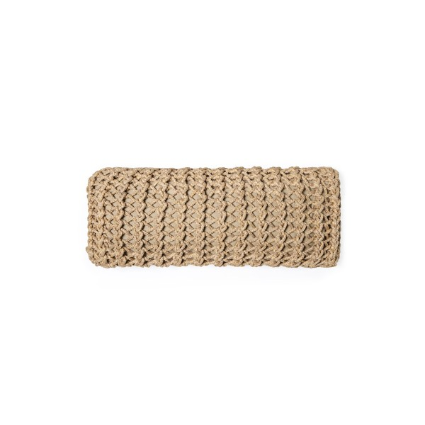 """Cushion knitted one side - 65*28 - 6mm """"XX"""" - Earth"""