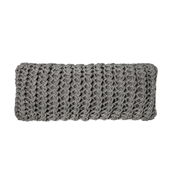 """Cushion knitted one side - 65*28 - 6mm """"XX"""" - Lava"""
