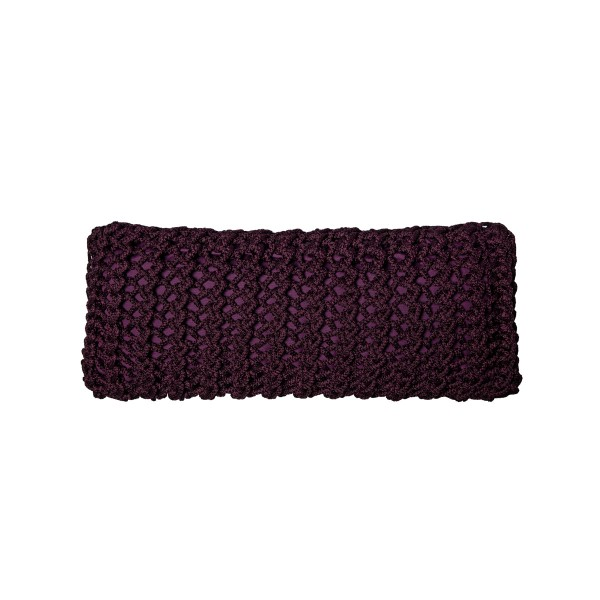 """Cushion knitted one side - 65*28 - 6mm """"XX"""" - Blackberry"""