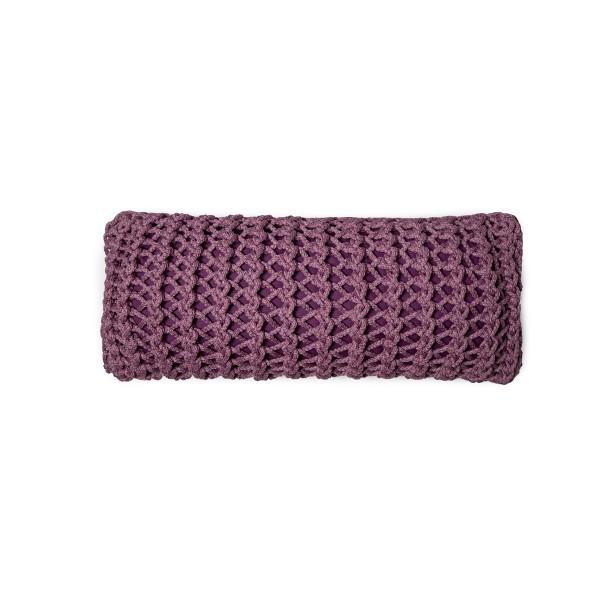 "Cushion knitted one side - 65*28 - 6mm ""XX"" - Raspberry"
