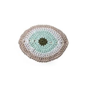 "Cushion crocheted one side - 60*40 - 6mm ""Talisman"" - Sand"